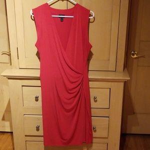 Sleeveless red dress
